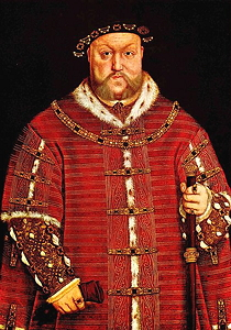 Henry VIII wearing red
