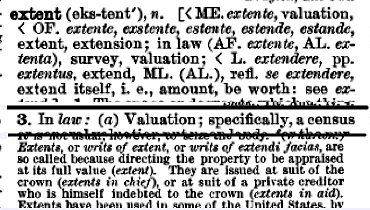 """extent"" in the Century Dictionary"