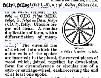 """felly"" in the Century Dictionary"