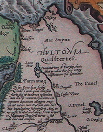 St Pat's Purgatory on 1592 map