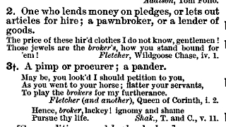 """broker"" in the Century Dictionary"