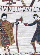 a Danish axe on the Bayeux Tapestry