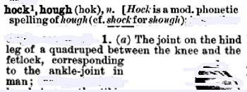 """hock"" in the Century Dictionary"