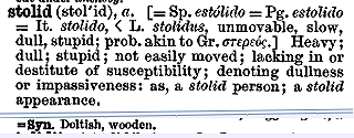 """stolid"" in the Century Dictionary"