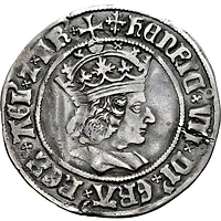 groat with image of Henry VII