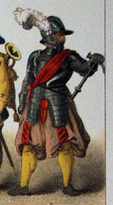 French captain, 1600.  Sorry, no Norwegian