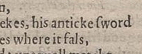 "the word ""antique"" in Scene 7, Second Quarto"