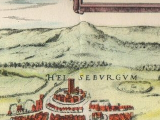 a hill east of Kronborg in a 1588 illustration